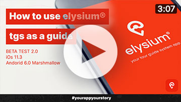 How to use the App elysium® tgs as a guide
